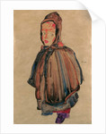 Girl with hood, 1910 by Egon Schiele