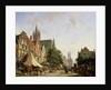 Dutch Street Scene by Adrianus Eversen
