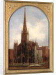 St. Paul's Universalist Church before the fire of 1871, c.1872 by Daniel Folger Bigelow