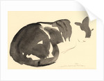 Sleeping cat, 1984 by Claudia Hutchins-Puechavy