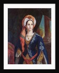 Portrait of the actress Mlle Rachel in the role of Roxanne for the play, Bajazet by Jean Racine by French School