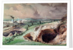 Open-cast Mines at Blanzy, Saone-et-Loire, 1857 by Ignace Francois Bonhomme