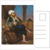An Egyptian Man Smoking a Hookah by Louis Leopold Boilly