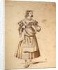Costume design for Mathurine by Achille Deveria