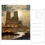 View of the West facade of the Cathedral of Notre-Dame, Paris, c.1840 by French School