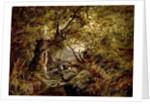 A Woodland Stream by English School