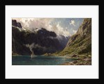 Naeroyfjord, Norway, 1902 by Henry Enfield