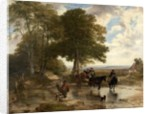 Market Cart at a Brook, 1845 by Frederick Richard Lee