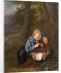Two Boys with a Bird by Eglon Hendrick van der Neer