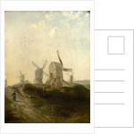 Windmills on Nottingham Forest, 1847 by Henry Smyth