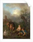 Landscape with Figures, a Horse and a Dog by Jan Hackaert