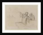 La Defense, c.1865 by Honore Daumier