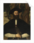 Bearded Man with a Falcon, c.1500 by Lazzaro (attr. to) Bastiani