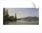 Landscape with a River, 1860 by Charles Francois Daubigny