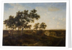 Landscape with Cottage and Figures, early 19th century by Patrick Nasmyth