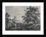 Croydon Church from Duppas Hill Terrace, 1925 by James Bourne