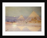 The Pyramids at dusk by Augustus Osborne Lamplough