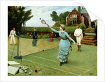 Tennis Players, 1885 by Horace Henry Cauty