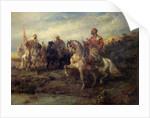 Arab Warriors on Horseback by Adolf Schreyer
