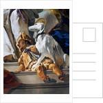 Dwarf and dog by Giovanni Battista Tiepolo