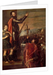 The Allocution of Alfonso d'Avalos to His Troops, 1540-41 by Titian