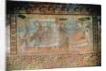 Fresco representing the miracles of Jesus by German school