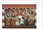 Martin Luther preaching by Dutch School
