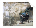 A posthumous portrait of Dickens and his characters; Dickens's Dream, 1875 by Robert William Buss