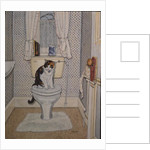 Cat on the Loo, 1991 by Ditz Ditz