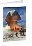 A Night Encampment before the Sphinx by Carl Haag