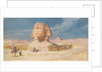 The Sphynx of Giza with the Pyramid of Mykerinos, 1874 by Carl Haag