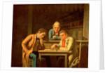 The Checker Players, 1850 by George Caleb Bingham