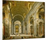 Interior of St. Peter's, Rome, 1750 by Giovanni Paolo Pannini or Panini
