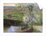 Flowering Apple Tree and Willow by Timothy Easton
