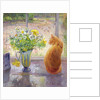 Striped Jug with Spring Flowers by Timothy Easton