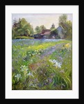 Dwarf Irises and Cottage by Timothy Easton