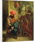 The Turk with a Saddle by Ferdinand Victor Eugene Delacroix