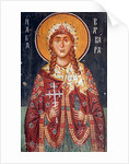 Byzantine fresco from the 15th century Saint Barbara by Anonymous