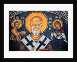 Saint Nicholas surrounds Christ and Mary by Anonymous