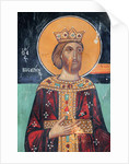 Byzantine fresco from the 15th century Emperor Constantine 1st by Anonymous