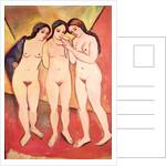 Three Naked Girls by August Macke