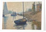 Ponton de la Félicité at Asnières, 1886 by Paul Signac