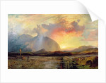 Sunset Vespers at the Old Rugged Cross by Thomas Moran