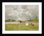 Cows in a Field under a Stormy Sky, 1877 by Eugene Louis Boudin
