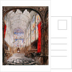 Interior of King's College Chapel, 1843 by Joseph Murray Ince