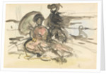 Figure Study: two women seated on a river bank by Philip Wilson Steer
