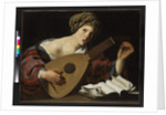 Young woman tuning a lute, c.1626-27 by Hendrick Ter Brugghen