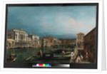 The Grand Canal, Venice, above the Rialto bridge, before 1743 by Michele Marieschi