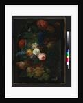 A basket of flowers with fruit, 1805 by Johann Baptist Drechsler