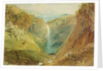 Hardraw Fall, Yorkshire, c.1820 by Joseph Mallord William Turner